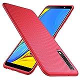 GeeMai Samsung Galaxy A7 2018 Hülle, [Rot Soft Hülle] Ultra Thin Silikon Schutzhülle Tasche Soft TPU Hüllen Handyhülle für Samsung Galaxy A7 2018 Smartphone