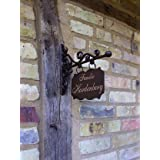 antikas–Casa placa para número de casa + Nombres, Cartel de aushänge 20x 13harde. Berg rectangular pequeño