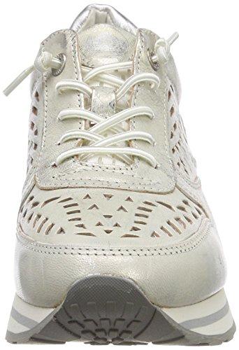 Bugatti Damen 422404023049 Sneaker Weiß (White / Metallics 2090)
