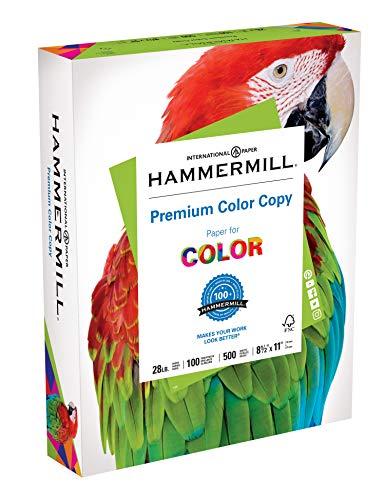 Hammermill Papier, Premium Color Copy-Papier, 8,5 x 11 Papier, Briefgröße, 28 lb Papier, 100 hell, 1 Ries / 500 Blatt (102467R) säurefreies Papier (Hammermill-copy Papier)