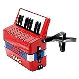 Sharplace Fisarmonica 7 Tasti 8 Basso Giocattolo Musicale Educativo Per Bambini Con Tracolla Regolabile - Rosso