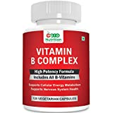 Pronutrition B Complex Vitamins - ALL B Vitamins Including B12, B1, B2, B3, B5, B6, B7, B9, Folic Acid - Vitamin B Complex Supplement for Stress, Energy and Healthy Immune System 120 Veg capsules