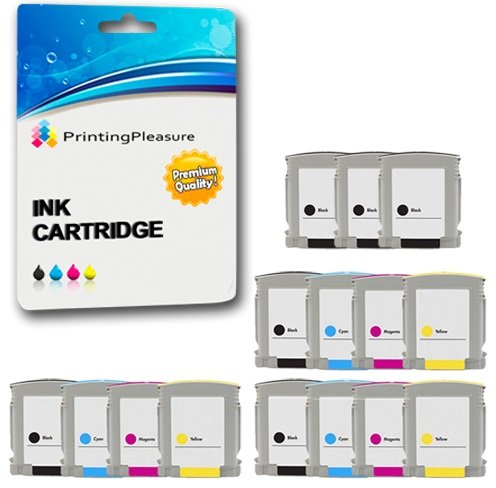 Printing Pleasure 15 Druckerpatronen für HP Designjet 100 100plus 110plus 500 Business Inkjet 1000 1100 1200 2000C 2200 2600 2800 3000 Officejet Pro K850 9100 9110 9120 9130 | kompatibel zu HP 10 11 -