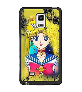 PrintDhaba Princess D-2989 Back Case Cover for SAMSUNG GALAXY NOTE 4 (Multi-Coloured)