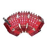 ammoon Concertina Acordeón 20 Botón 40-Caña Estilo Anglo con Bolsa de Transporte