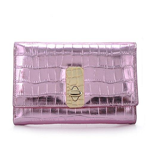Ms stone wallet breve del 30 per cento di linee/Moda coreana blocco soldi carta mano bag clip-A A