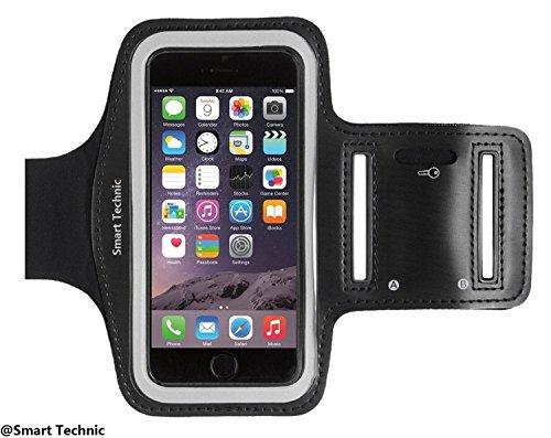 Smart Technic Fascia Sportiva da Braccio Sweatproof Bracciale per Corsa & Esercizi con Supporto Chiave e Riflettente Armband per iPhone 7 Plus/6 Plus/6s Plus/6/6s, Samsung,Xiaomi, Huawei ecc