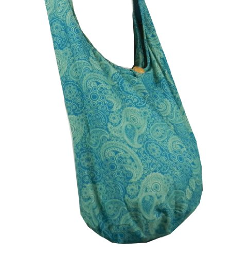 BenThai Products, Borsa a tracolla donna Patchwork Random Colors Height: 14 (Teal PL9)
