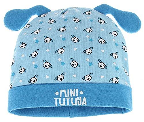 GEMVIE Bonnet De Naissance Bébé 3-6 Mois Chapeau Imprimé Animaux Mignon Bob Coton (Bleu)
