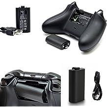 1400mAh Haut Capacité Batterie rechargeable pour Xbox One Elite contrôleurs + 1.8m M Play & Chargeur câble