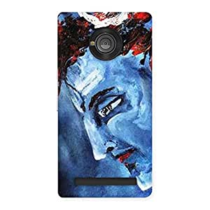 Cute Mahadev Blue Color Print Back Case Cover for Yu Yuphoria