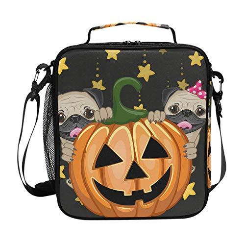 Deziro Kühltasche für Mittagessen, Halloween, mit Kürbis-Motiv, isoliert