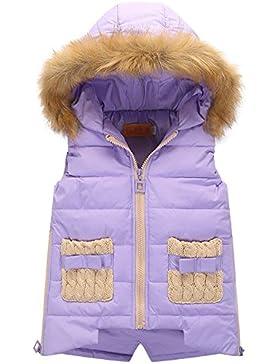Gilet Bambina - Canottiera Snowsuit per Ragazza - Giacca Senza Maniche con Cappuccio