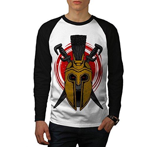 Krieg Gladiator Tod Schädel Herren L Baseball lange Ärmel T-Shirt | Wellcoda (T-shirt Emo Krieg)