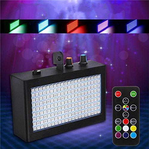 Strobe Flash-Bühne leuchtet Sound aktiviert Disco Lichter mit Fernbedienung HVTKL ()