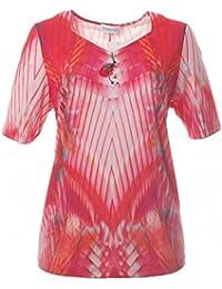 6da6bcb0e9b2 Chalou Sommer Kurzarm T-Shirt für Damen in Großen Größen Orange ...