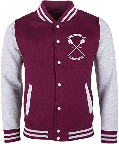 EZYshirt® Beacon Hills Lacrosse Teen Wolf Damen & Herren Team College Jacke - Damen Beacon