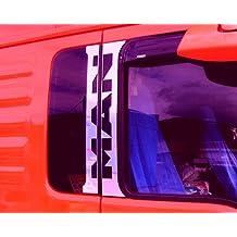 4 embellecedores para puertas de camiones MAN TGA y TGX, acero inoxidable pulido, cromados