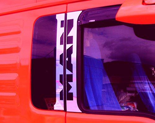 4x Edelstahl poliert chrom Tür Dekorationen für MAN TGA TGX Trucks