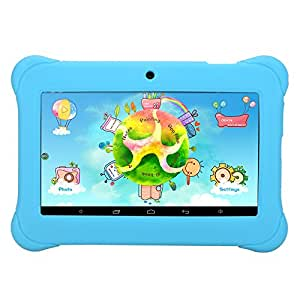 "iRULU BabyPad 1 Tablet (Y1) Kid-proof Android 4.4 Google Play 8GB Regalo per bambini 7""-Blu"