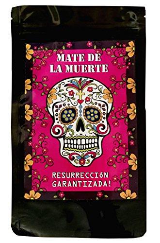 Mate Tee - Mate de la Muerte mit Guarana und Colanuss + Natürlich zuckerfreier Energy Booster. Auch super für Eistee / Mix-Drinks / Cocktails - EINWEG -