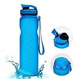 1000ml Sport Trinkflasche - Vsllcau Tritan Sportflasche Wasserflasche Auslaufsichere Fahrradflasche