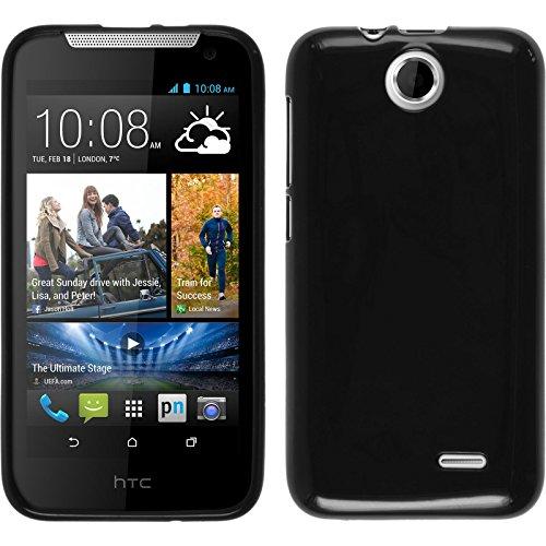PhoneNatic Case für HTC Desire 310 Hülle Silikon schwarz, Candy + 2 Schutzfolien