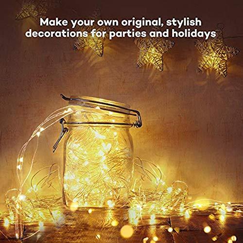 TIREOW_Christmas Guirlande Lumineuse 20 m 200 LED Décoration pour Mariage, fête, Anniversaire, Maison, Jardin, Salon, terrasse pelouse