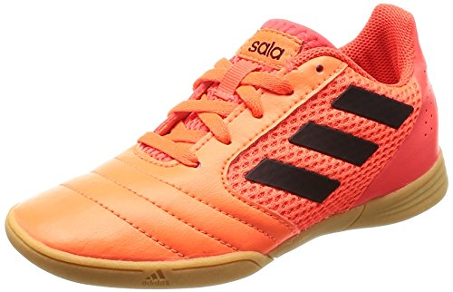 adidas Jungen Ace 17.4 Sala J Fußballschuhe, Mehrfarbig (Solar Orange/Core Black/Solar Red), 38 EU (Jungen-sale)