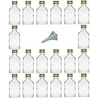 Viva-haushaltswaren–20mini vetro bottiglie 20ml con tappo a vite con imbuto del diametro di