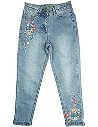filles brodé détail floral Skinny Coupe décontracté Jean tailles de 4 pour 14 ans