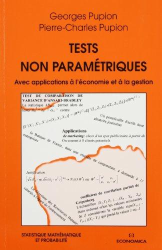 Tests non paramétriques : Avec applications à l'économie et à la gestion