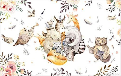 Muraon sfondi di alta qualità cartoon animal music house wallpaper murales 3d per soggiorno i migliori sfondi disegni da parete per camera da letto, 350x245 cm (137.8 by 96.5 in)