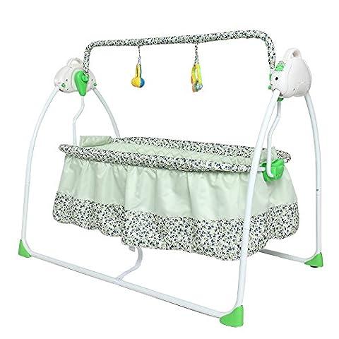 NWYJR Vibration nouveau-né réglable pour bébé Rocker apaiser confortable électrique multifonction pliable musique Swing Bouncer , green