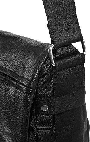 Dokumententasche Kuriertasche Schultertasche Citybag Flugbegleiter Umhängetasche Business Messenger Bag Tasche (Braun) Schwarz
