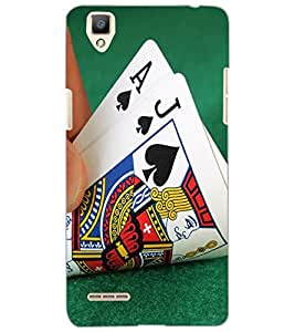 OPPO F1 CARDS Back Cover by PRINTSWAG