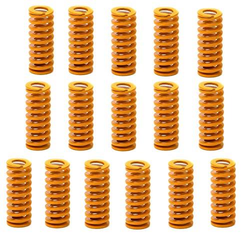 Ruesious Muelles para impresora 3D de, muelles de compresión M3, carga de luz de tornillo para Creality CR-10 10S S4 Ender 3, 16 unidades