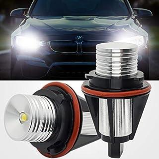 2PCS Angel Eyes Bulbs Fit for E39 E60 LED Halo Ring Car Lights Marker Side Bulbs Xenon 10W 6000K CREE White For E61 E87 E53 E63 E65 E83 E87 5/6/7 Series X3 X5 Error Free.