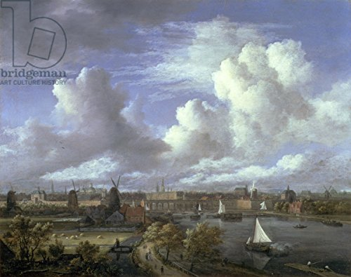 view-on-the-amstel-looking-towards-amsterdam-c1675-70-oil-on-canvas-74986-aluminium-dibond-130-x-100