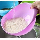 #5: Goank Multipurpose Washing Bowl / Rice bowl / Rinse bowl & Strainer, Rinse Pasta, Vegetables ,Rice, Fruits