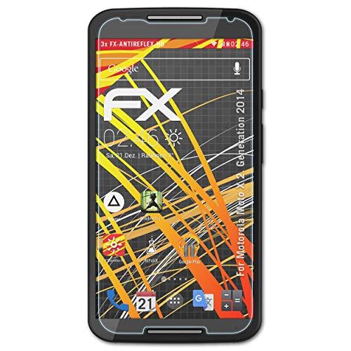 atFolix Schutzfolie kompatibel mit Motorola Moto X 2. Generation 2014 Displayschutzfolie, HD-Entspiegelung FX Folie (3X)