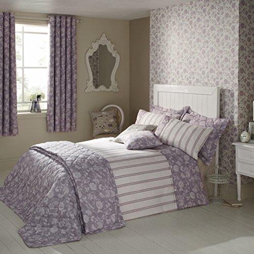 ILiv Henley per giardino, 100% cotone a righe e lenzuola copripiumino e 2 federe, King-Size, colore: lavanda - 76 Blazer