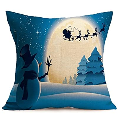 hunpta® Christmas Pillow Case Sofa Waist Throw Cushion Cover Home Decor - cheap UK light store.