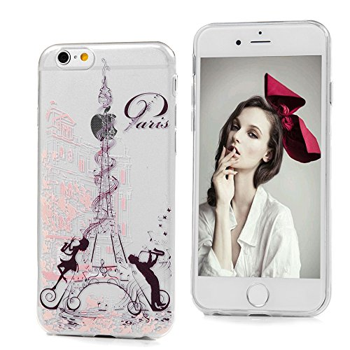 iPhone 6/6S Crystal Clear Case iPhone 6/6S Schutzhülle YOKIRIN Premium Flexible Slim Fit TPU Silikon Case Cover Handyhülle Handytasche Etui Handycase Ultra Dünn Rutschfest Kratzfest Silikonhülle Trans Farbe 2