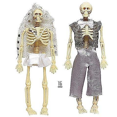 Widmann 01380 Skelettpaar bekleidet (Duo Kostüme Ideen)