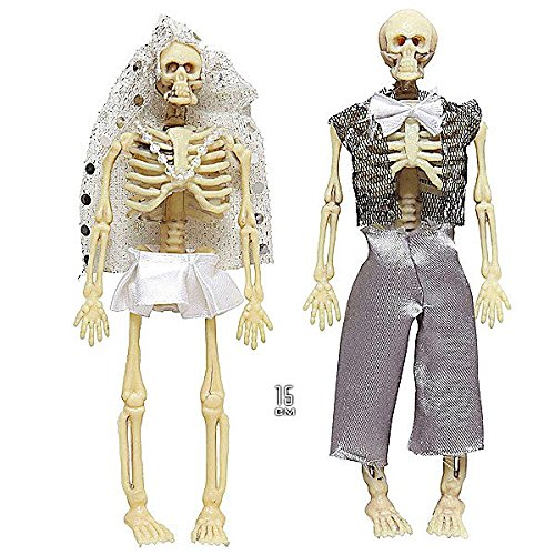Widmann 01380 Skelettpaar (Halloween Duo Ideen Kostüme)