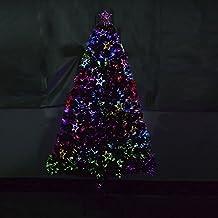 Árbol de Navidad 180 cm Árbol de Fibra Óptica con 28 Luces LED