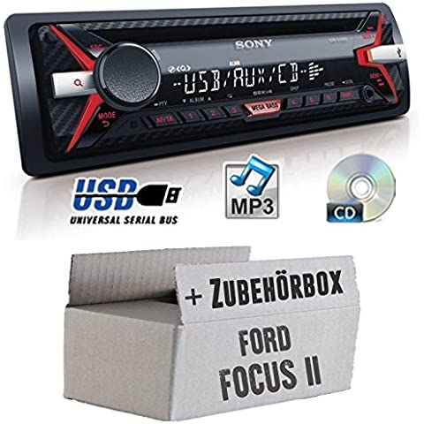 Ford Focus 2 - Sony CDX-G1100U - CD/MP3/USB Autoradio - Einbauset