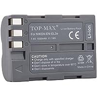TOP-MAX EN-EL3 EN-EL3A EN EL3e ENEL3e Akku Batterie für Nikon D50 D70 D70s D80 D90 D100 D200 D300 D300S D700