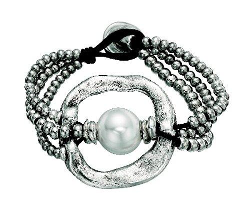 Imagen de uno de 50pulsera de mujer classics bañada piel perla color blanco 19cm pul1130mtlbpl0m
